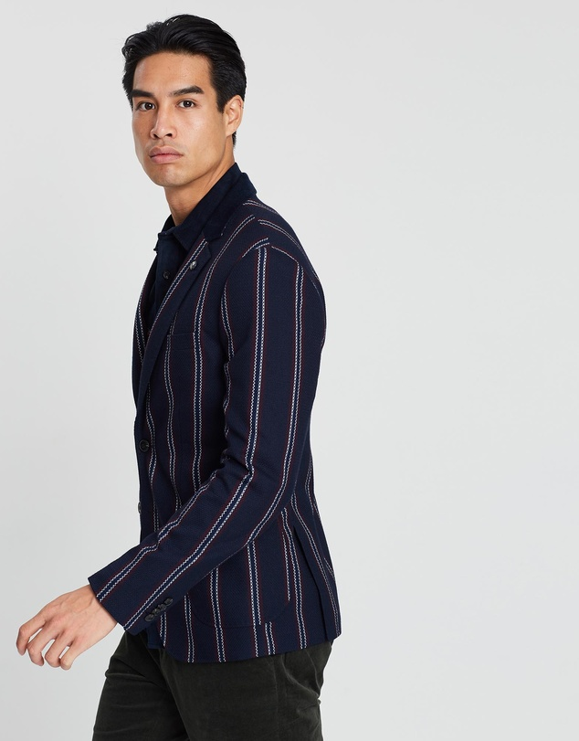 Scotch & Soda - Chic Structured Weave and Yarn-Dyed Pattern Blazer