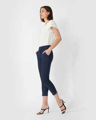 Forcast Josie Cropped Pants - Pants (Navy)