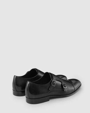 Aquila - Batley Monk Strap Shoes Dress (Black)