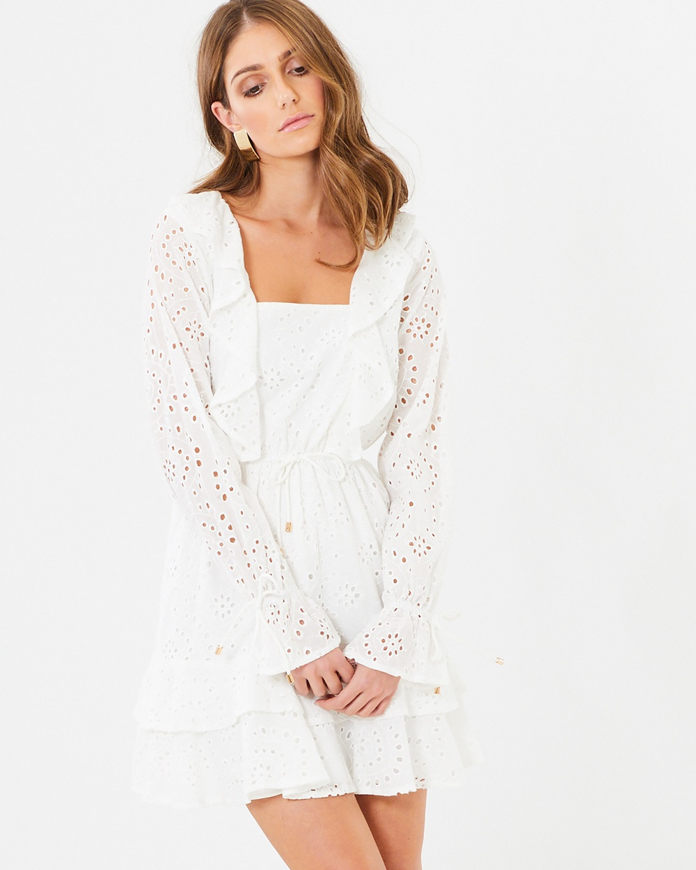 CHANCERY Polly Frill Dress Dresses White Lace Polly Frill Dress