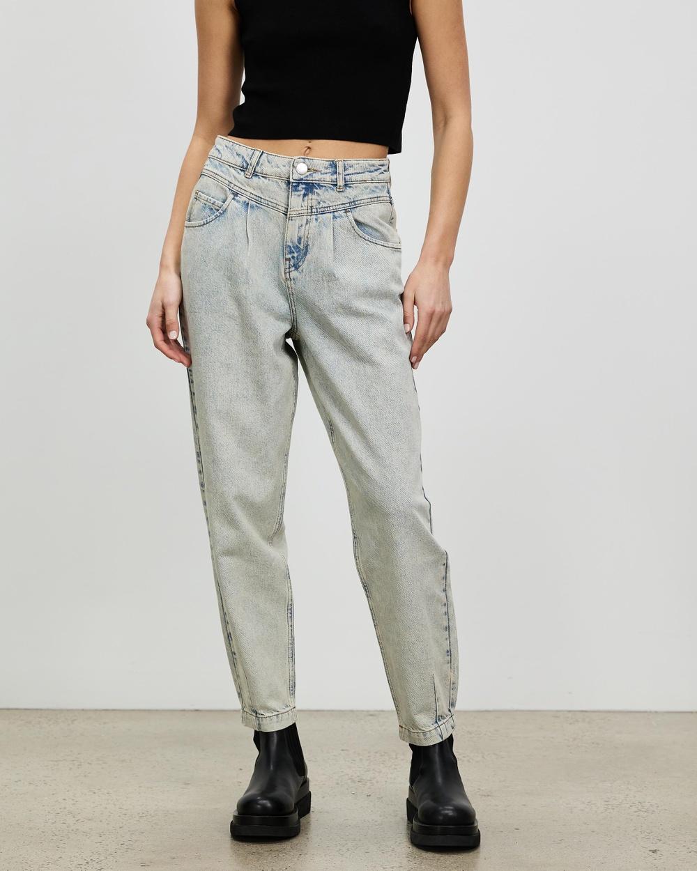 Aligne Carolyn Jeans High-Waisted Denim Acid Wash