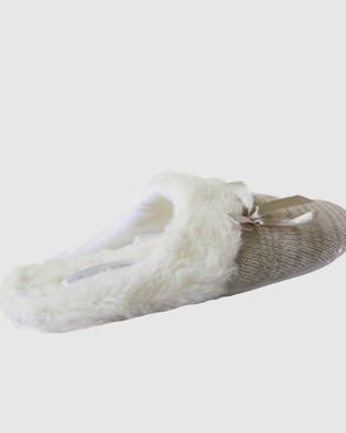 Deshabille Sleepwear  Deshabille Slippers - Slippers & Accessories (Grey)