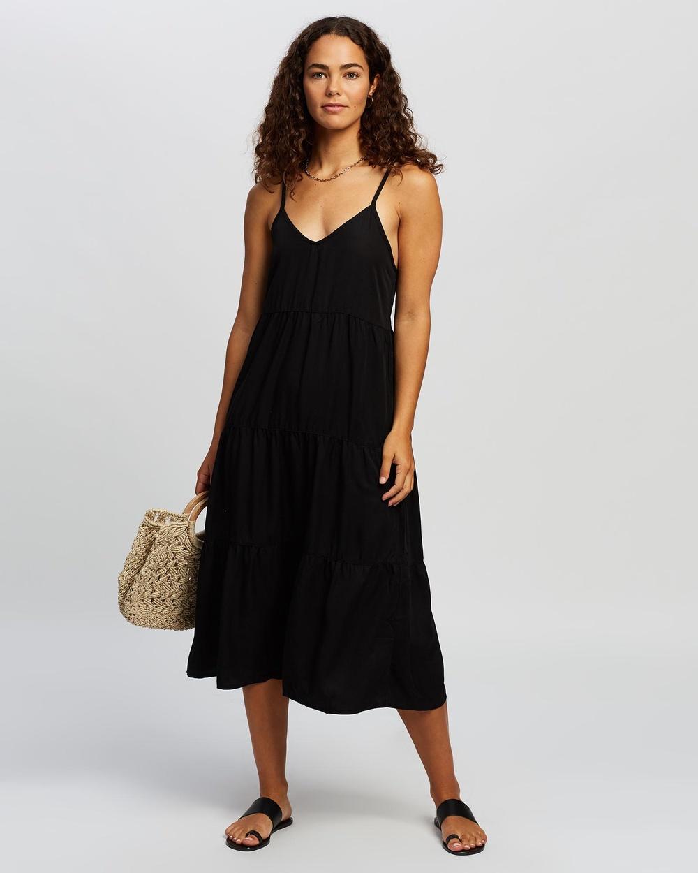 All About Eve Bondi Midi Dress Dresses BLACK