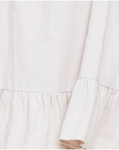 Ids Maxine Tie Up Swing Dress Beige