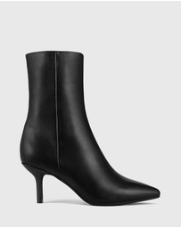 Wittner - Devra Leather Pointed Toe Stiletto Heel Ankle Boots