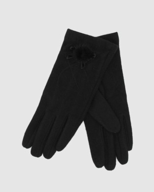 Morgan & Taylor Angelique Gloves - Accessories (Black)