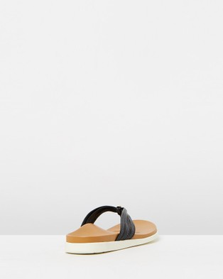Vionic Catalina Toe Post Sandals - All thongs (Black)