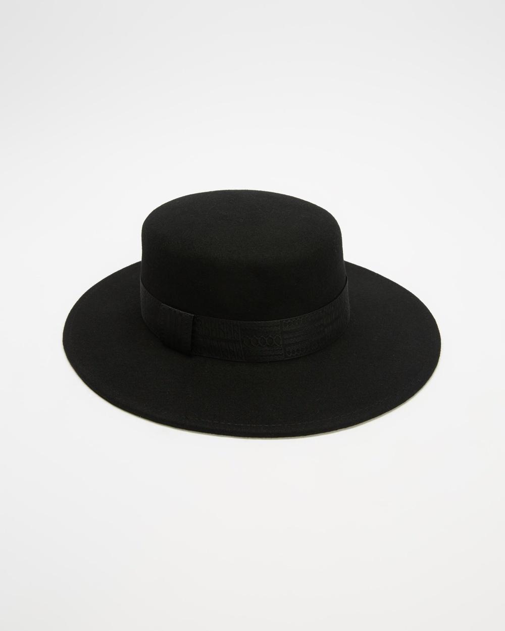 Ace Of Something Gunsmoke Boater Hats Black