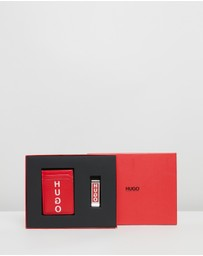 HUGO - Card Holder & Money Clip Gift Set
