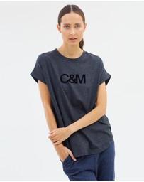 C & M Camilla and Marc - Logo Roll Sleeve Tee