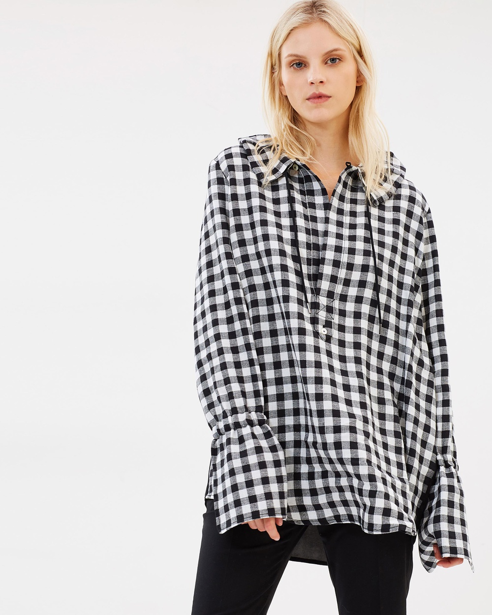 HOPE Zeal Shirt Tops Black Check Zeal Shirt