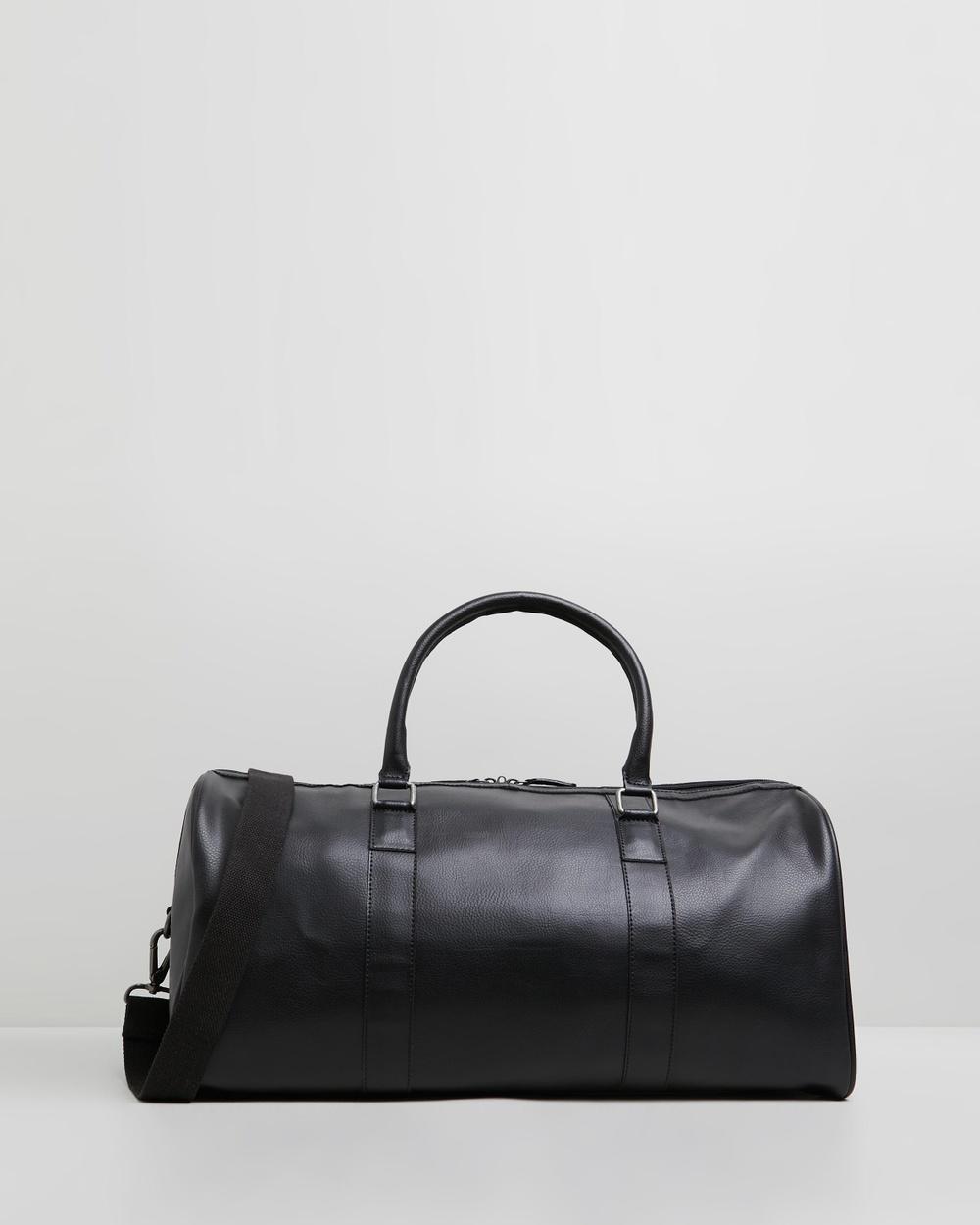 Staple Superior Harvey Weekender Duffle Bags Black