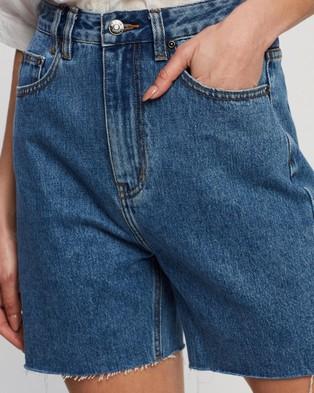 Atmos&Here Dana Recycled Cotton Blend Denim Shorts Vintage Origin Blue