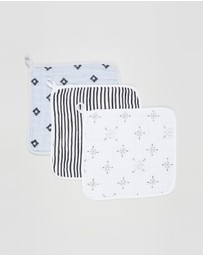Aden & Anais - Lovestruck 3-Pack Washcloths - Babies