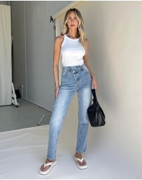 Dazie - Love Goes Asymmetric Jeans