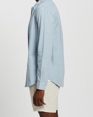 AERE Organic Poplin LS Resort Shirt Shirts & Polos Pale Blue