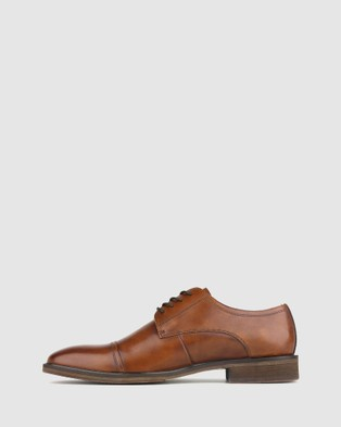 Airflex Franklin Leather Derby Dress Shoes - Dress Shoes (Tan)