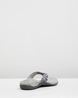 Vionic Lucia Toe Post Sandals - All thongs (Slate Grey Snake)