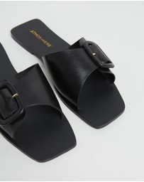 Atmos&Here - Sia Leather Slides