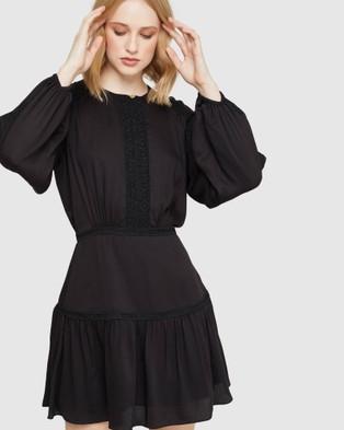 Oxford Faust Lace Trim Dress - Dresses (Black)