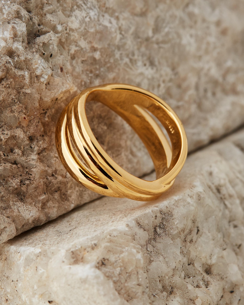 Missoma Infini Ring Jewellery 18ct Gold Vermeil on Sterling Silver