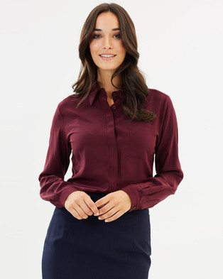 Farage – Natalie Silk Shirt Burgundy