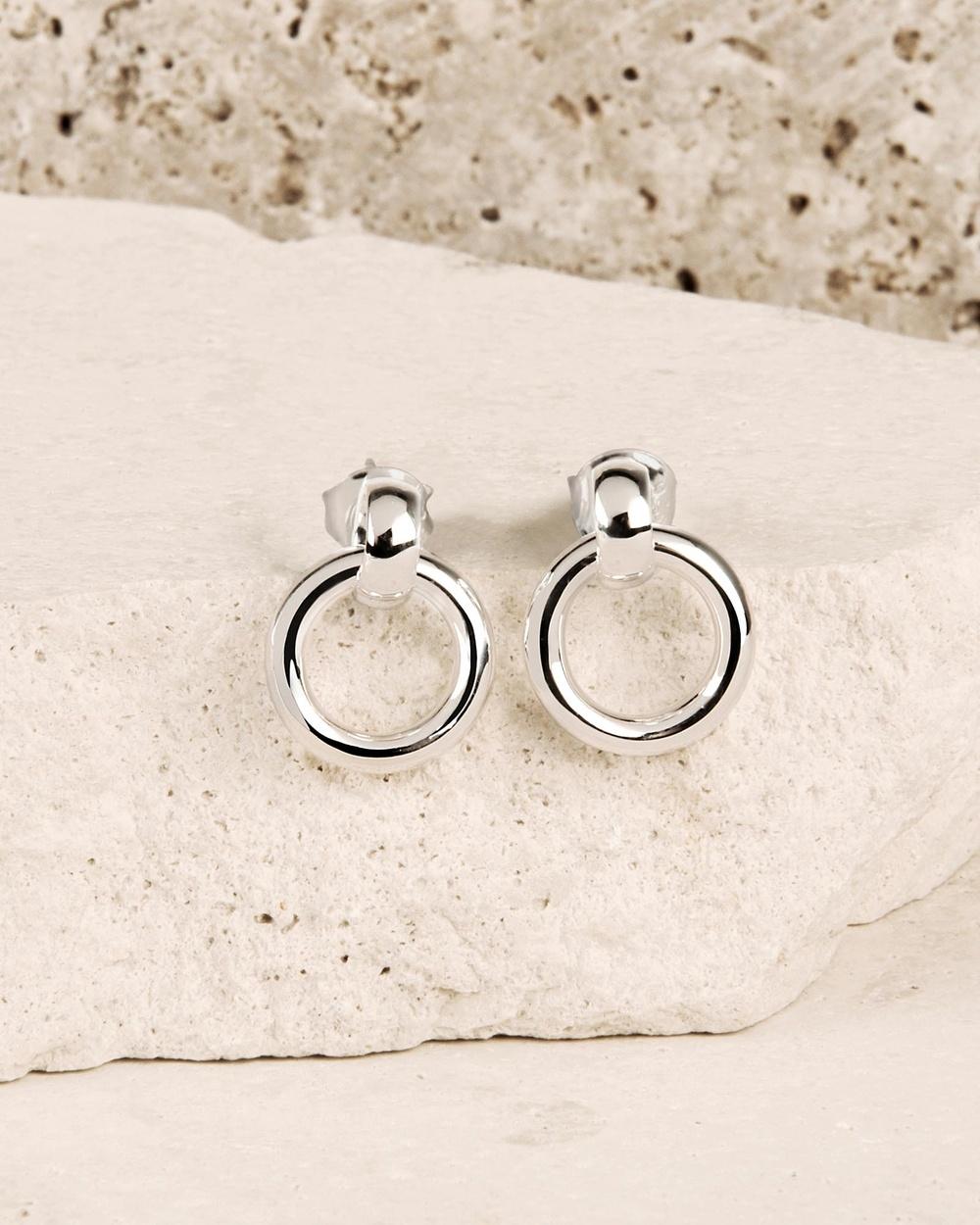 Najo Roma Stud Earrings Jewellery Silver