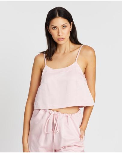Bondi Born Flared Cami Top Soft Pink