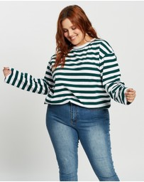 Atmos&Here Curvy - Harry Long Sleeve Boyfriend Tee