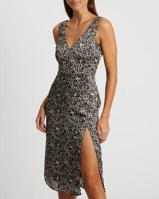 BWLDR Andinia Dress - Printed Dresses (Leopard)