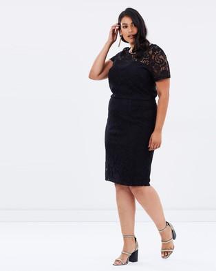 DP Curve – Lace Pencil Dress – Dresses (Black)