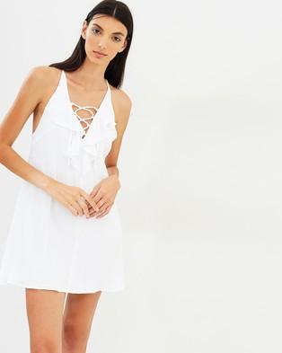 Suboo – Take It Slow Swing Frill Dress White