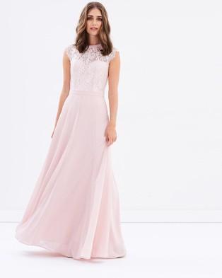 Review – Take A Chance Maxi Dress – Bridesmaid Dresses (Blush)