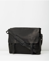 Lyle and Scott - Leather Messenger