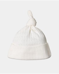 Nature Baby NZ - Knotted Pointelle Beanie