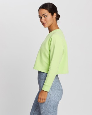 Doyoueven - Staple Cropped Jumper Crew Necks (Lime)