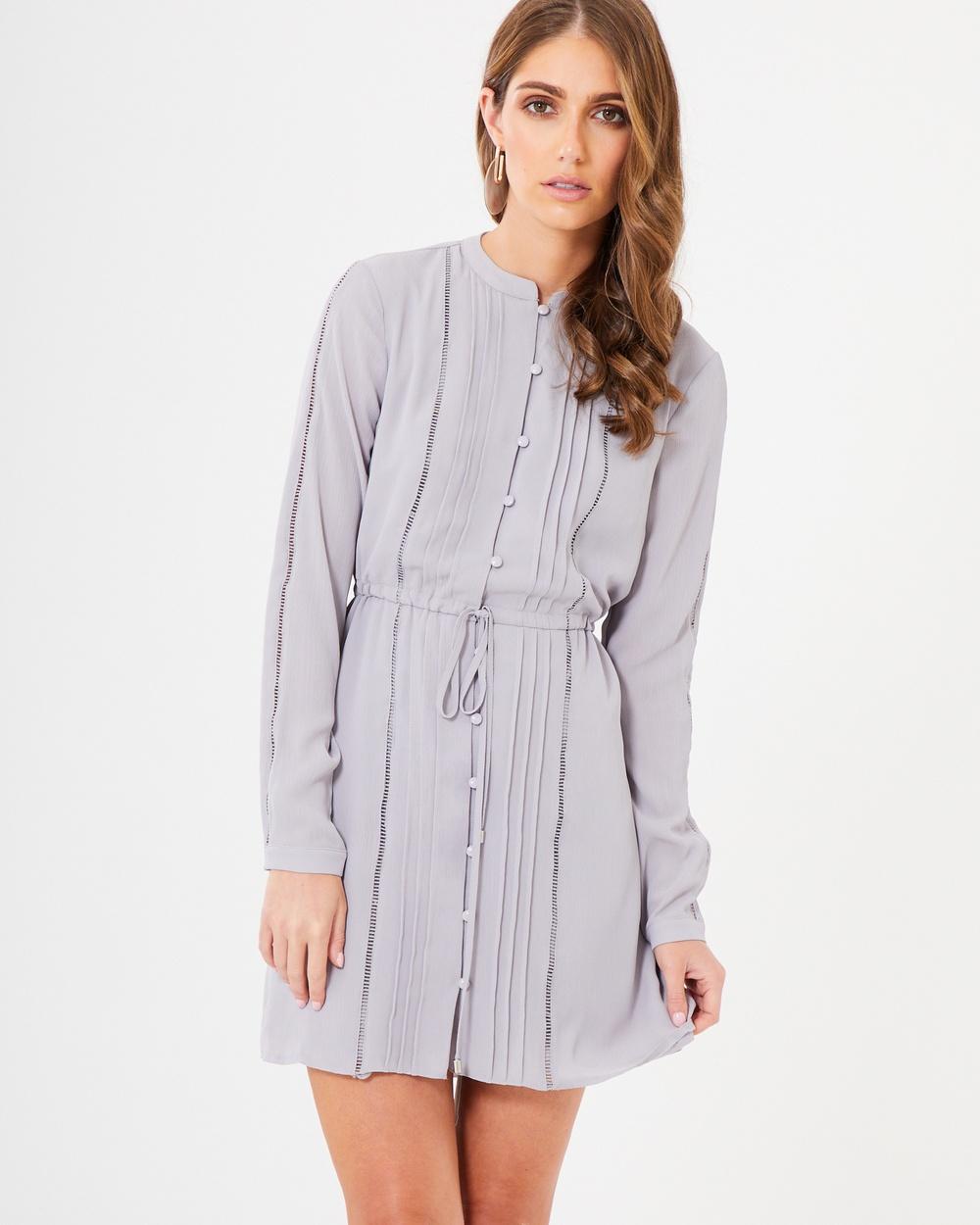 CHANCERY Keira Shirt Dress Dresses Grey Keira Shirt Dress