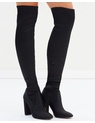 Lipsy - Stretch Satin Over-the-Knee Boots