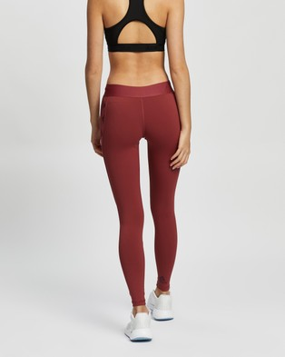 adidas Performance Alphaskin Badge of Sport Tights - all compression (Legacy Red & Maroon)