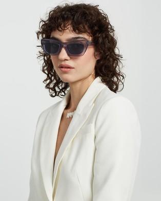 AKILA - Zombie Sunglasses (Cement, Navy & Silver)