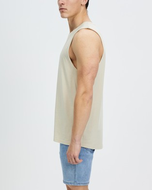 Staple Superior Staple Organic Vintage Muscle - T-Shirts & Singlets (Sand)