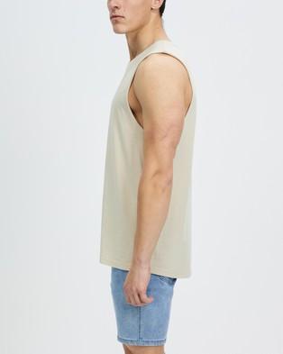 Staple Superior Organic Staple Organic Vintage Muscle - T-Shirts & Singlets (Sand)