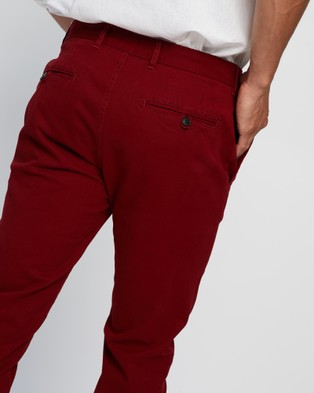 3 Wise Men Charlie Chinos - Pants (Red)