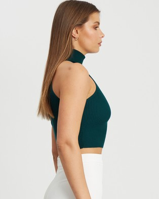 BWLDR Perrio Knit Top - Cropped tops (Emerald)