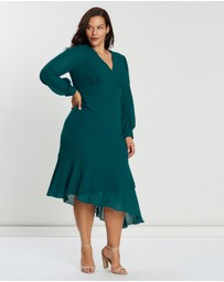 Cooper St - CS CURVY Coastal LS Midi Dress
