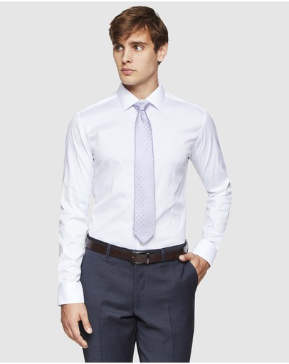 Oxford - White Stretch Travel Shirt