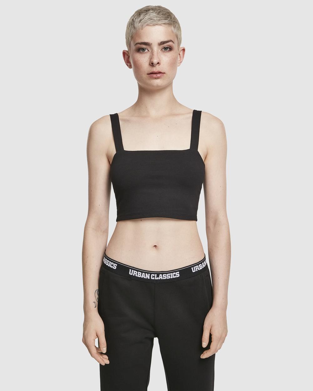 Urban Classics UC Ladies Casual Cropped Top Tops Black