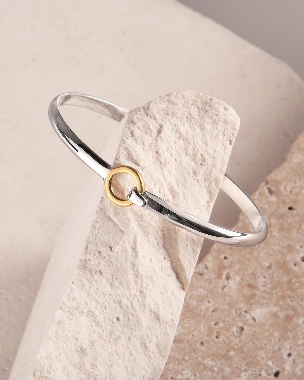 Najo Oh Honey Bangle Jewellery Yellow & Silver
