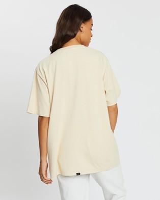 Thrills Flaming Cobra Merch Tee - T-Shirts & Singlets (Thrift White)