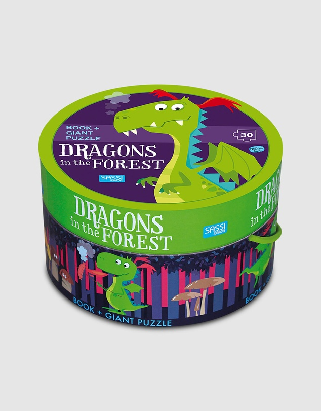 Kids Dragon in the Forest Book & Giant Puzzle Set 30 Pieces
